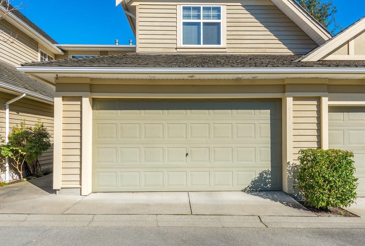 Close up of garage door