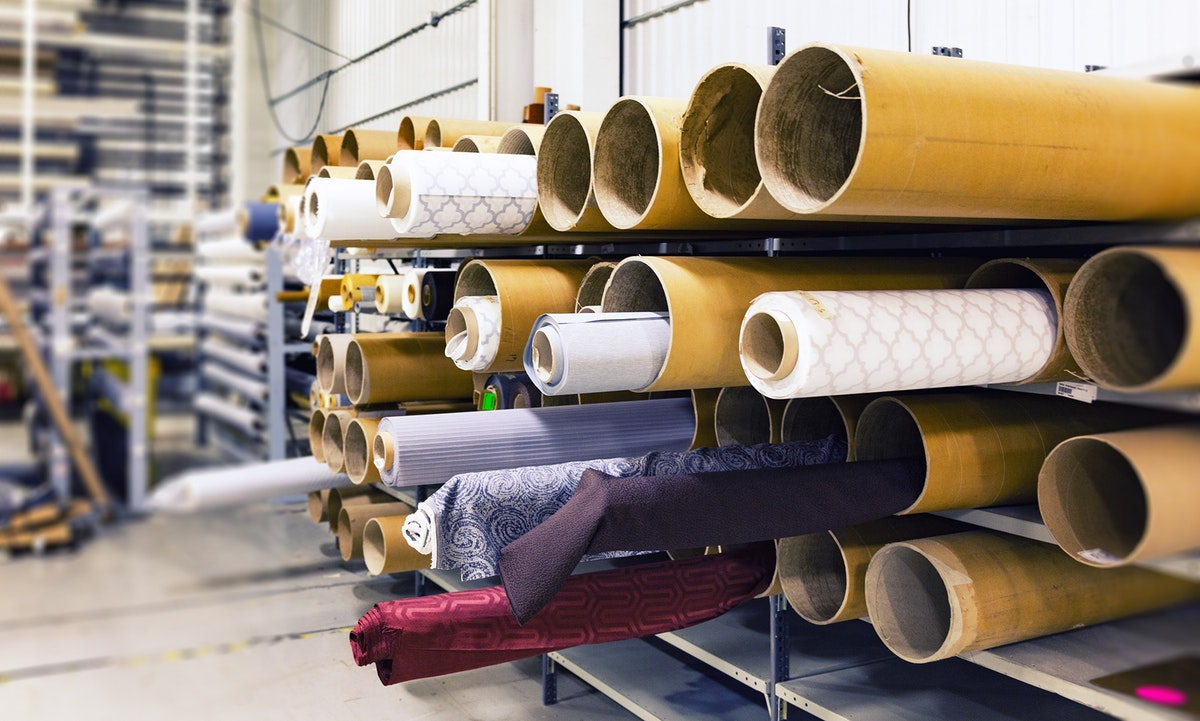 Fabrics in a factory