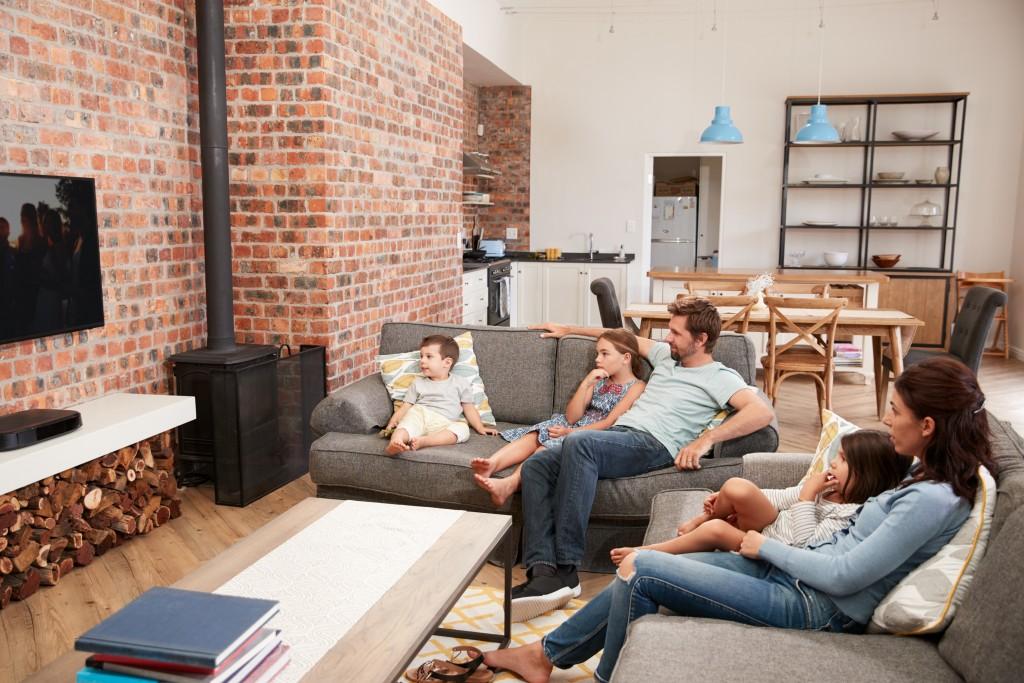 family inside home