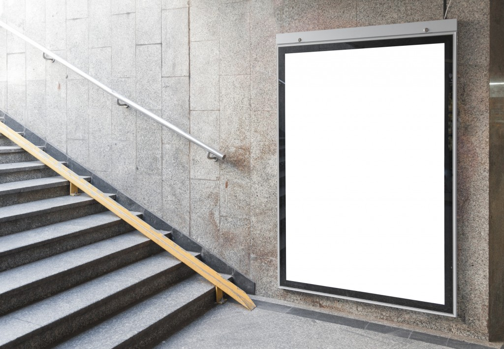 small vacant billboard