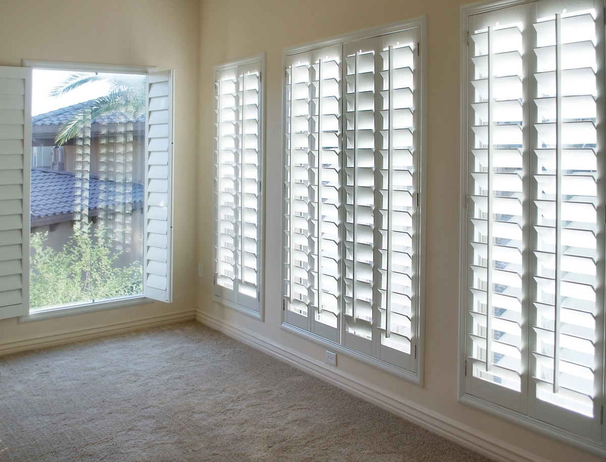 shutters attached to the window