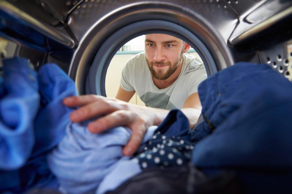man using dryer