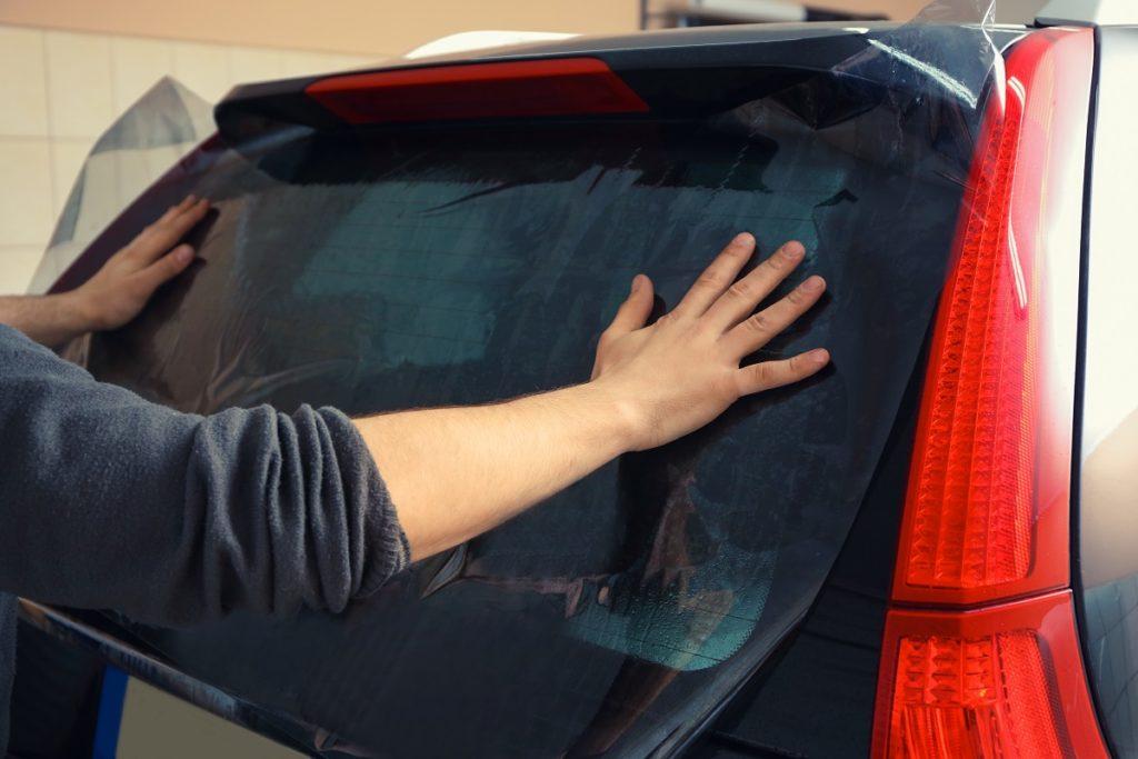 Car tinted window