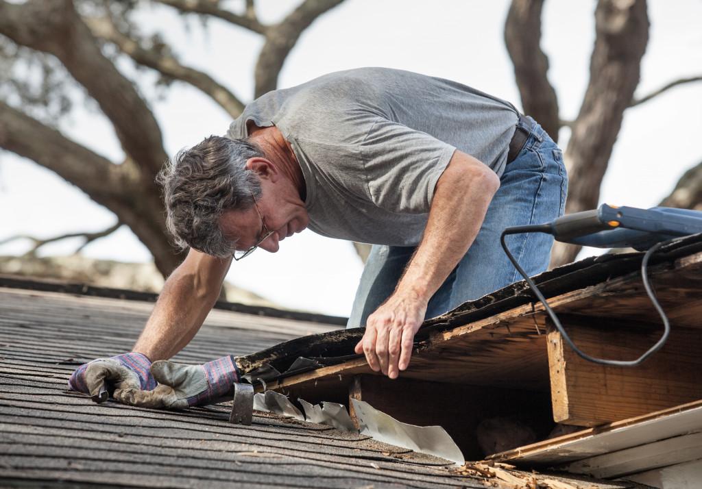 repairing roof