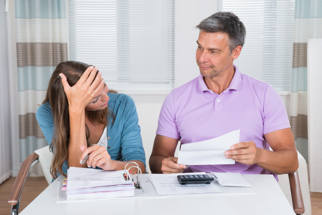 parents looking at papers