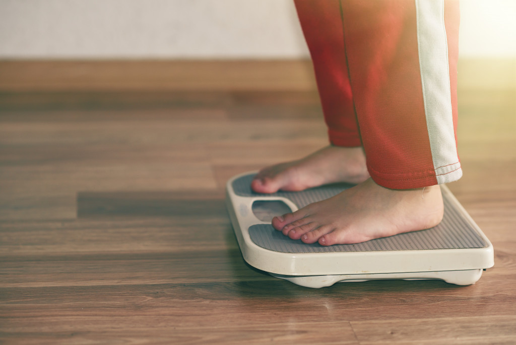 using weighing scale