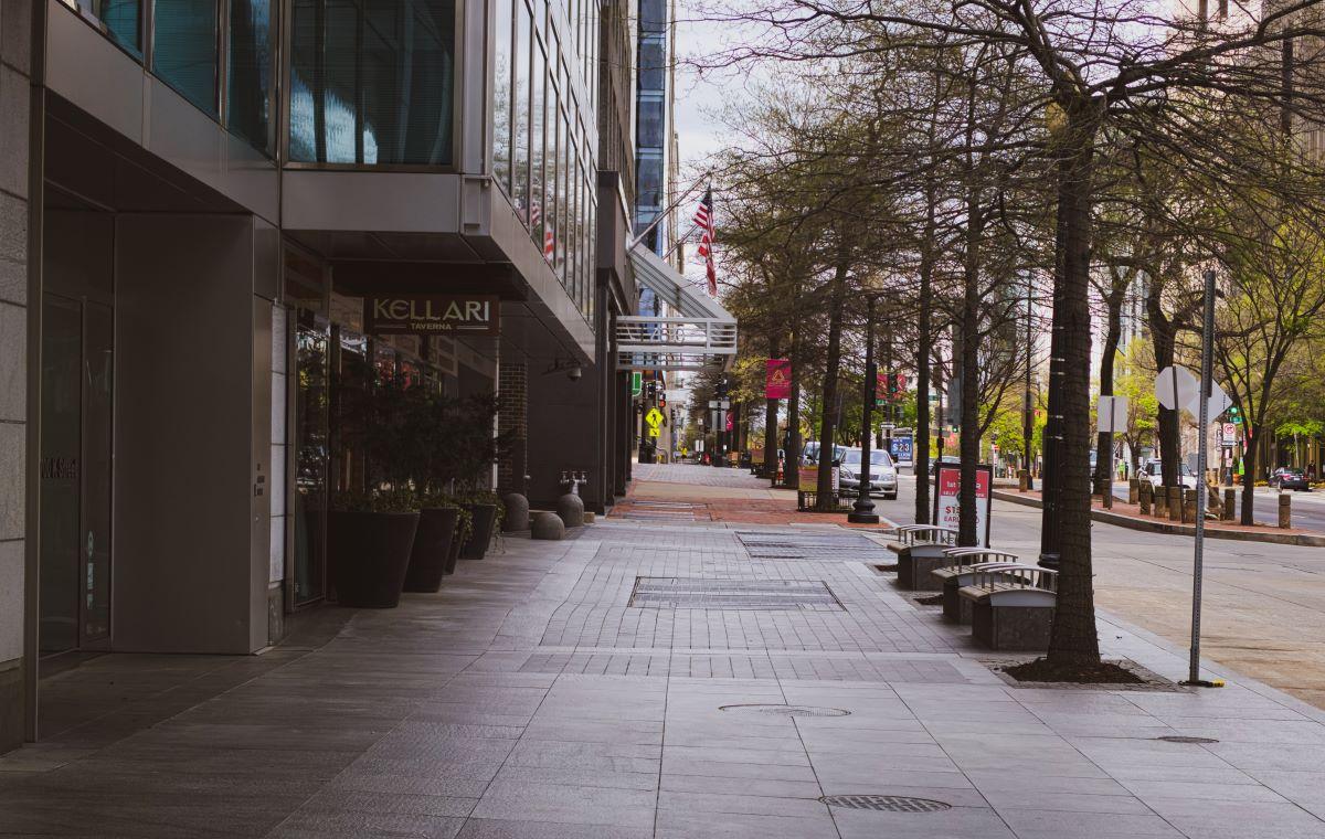 empty downtown street