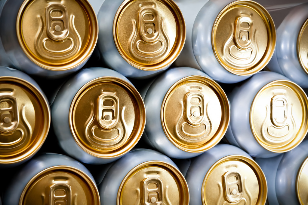 stack of cans