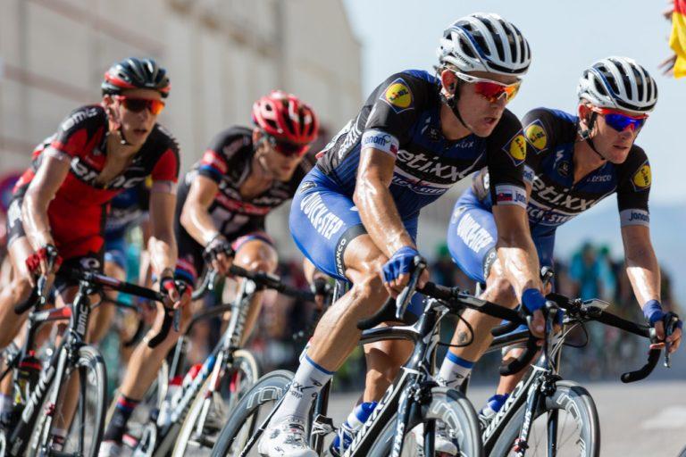 cyclists on a race