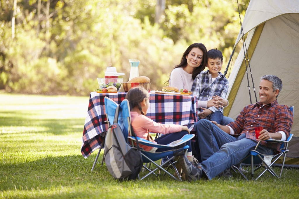 outdoor camping family