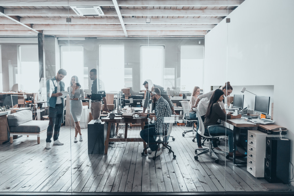 office with workers