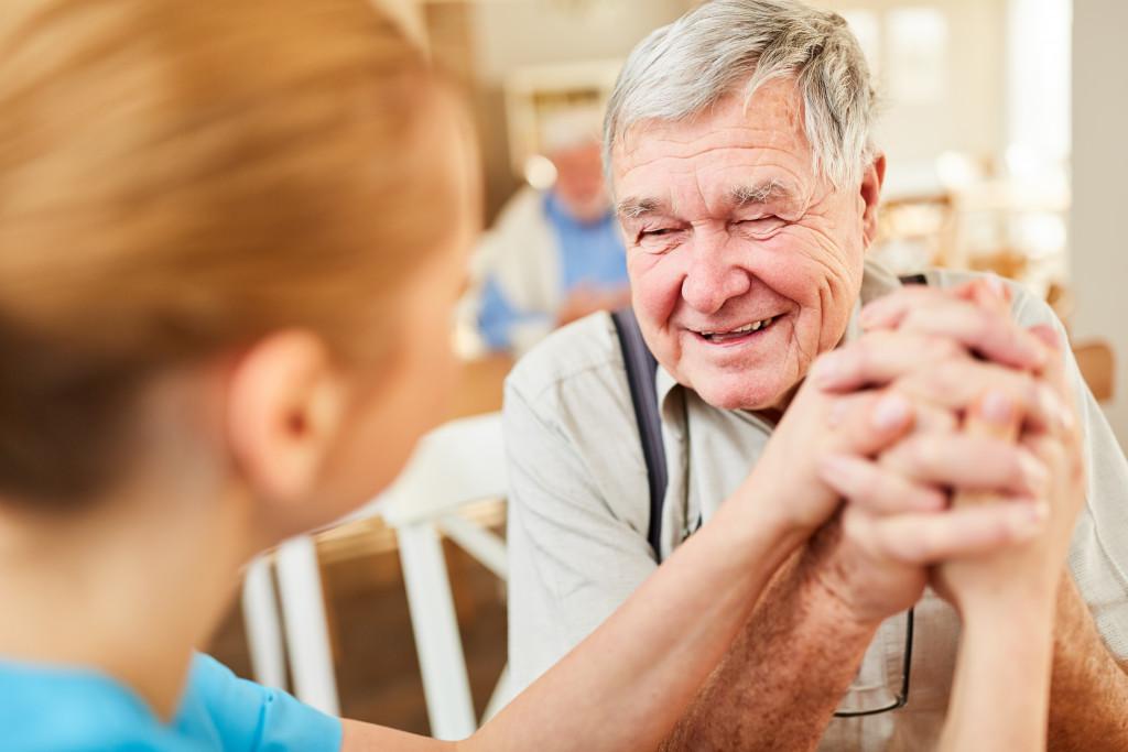 old man and nurse