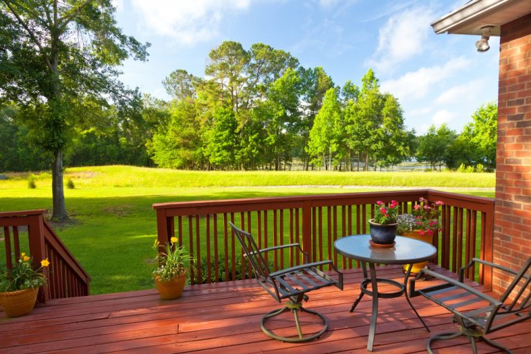 house deck and lawn