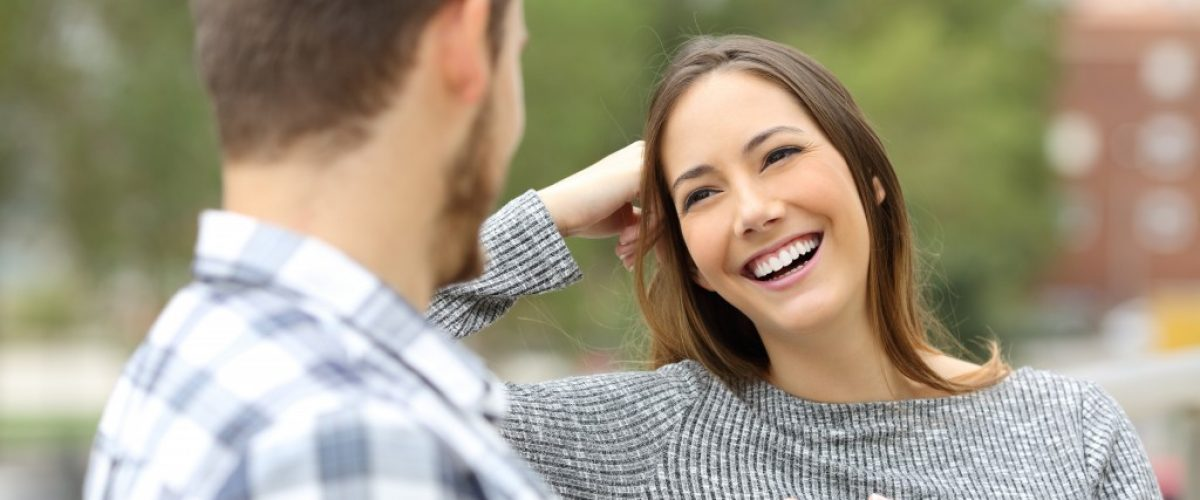 couple enjoying a conversation
