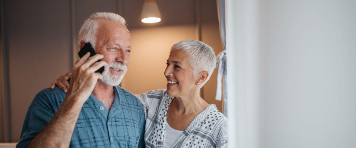 senior couple in their home