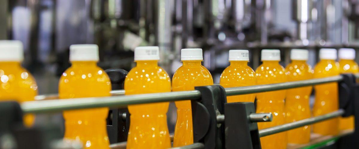 soda bottles on the conveyor belt